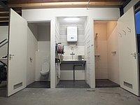 Nieuwbouw sanitaire ruimte in Berkenwoude