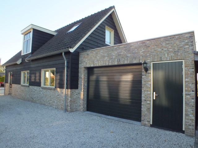 Nieuwbouw schuur met garage
